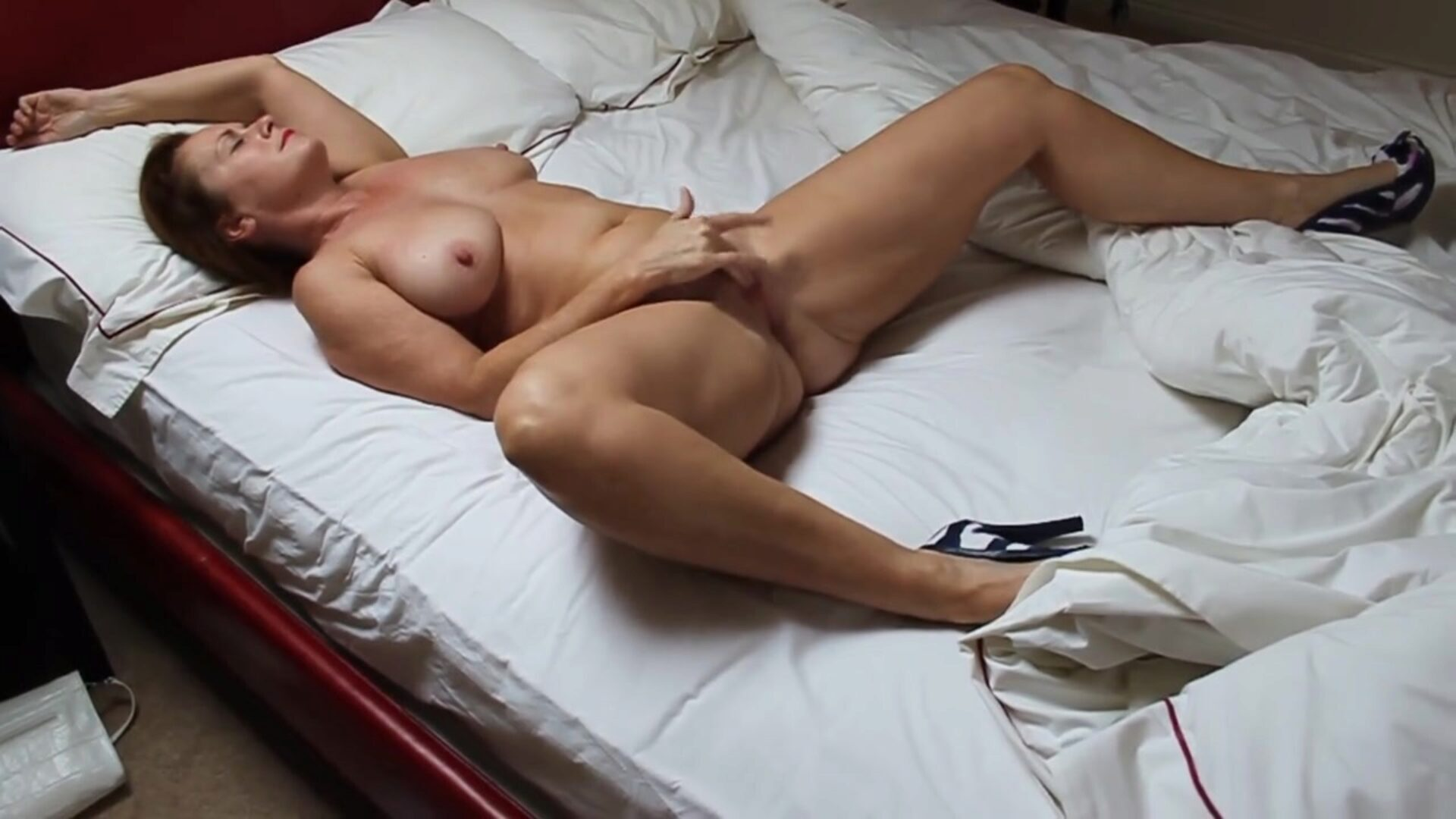 Wife at home fingering herself Love watching her climax What would u like to do to her
