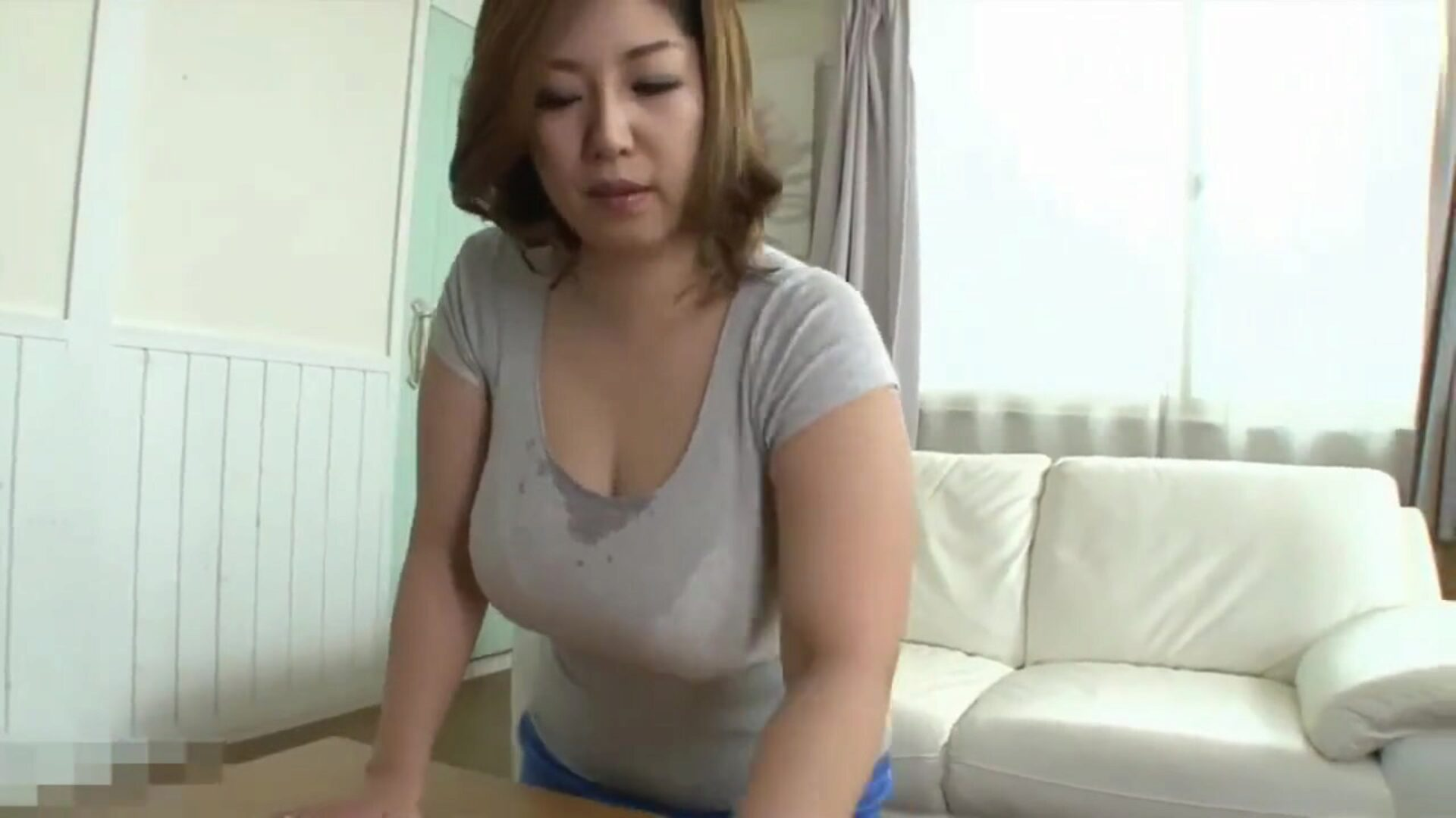 Japanese mama caught by surprise by stepson when cleaning Japanese step mamma busy cleaning when step sonny loses control and compels himself on her busty sweaty body