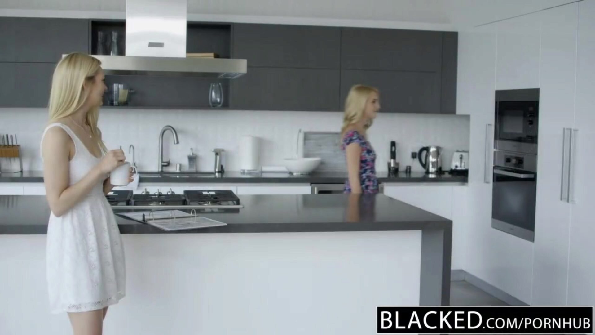 BLACKED Blonde best friends Cadence Lux and Alli Rae Share a giant BBC