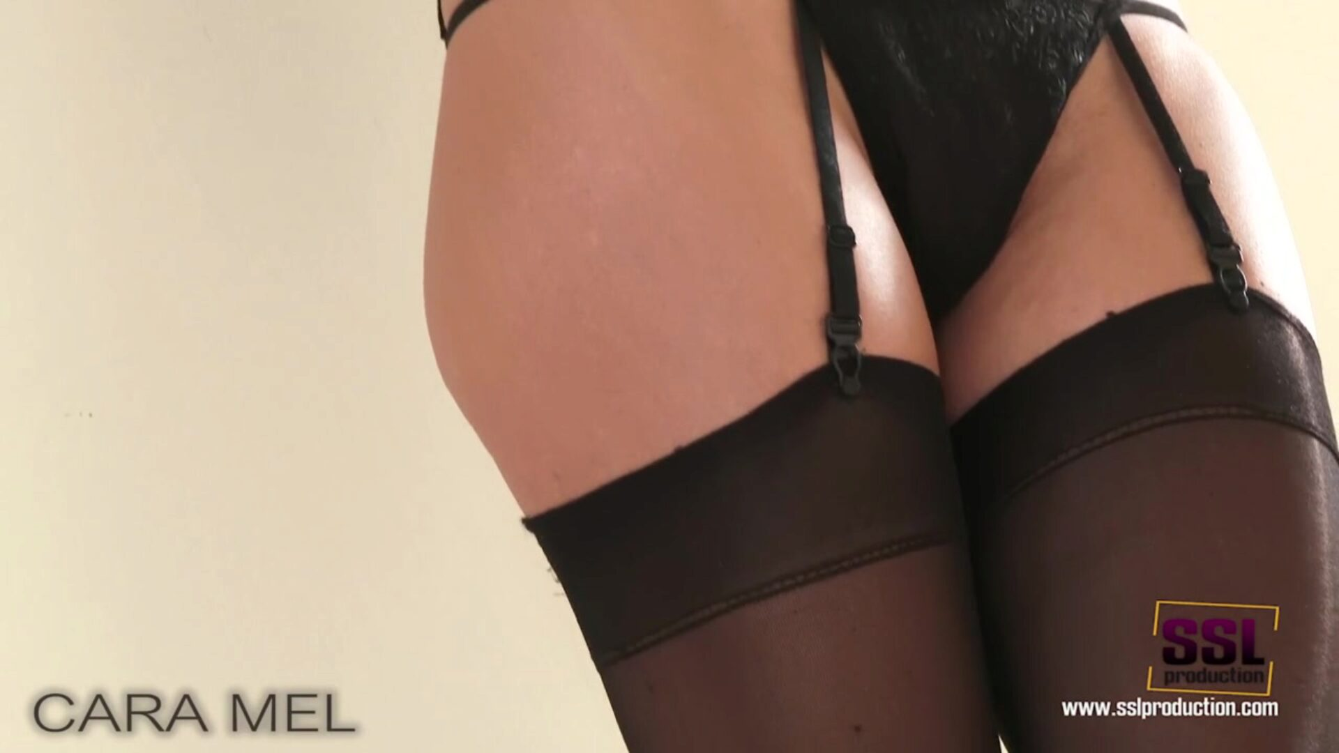 Truly glamorous recent honey Cara likes her figure in nylons