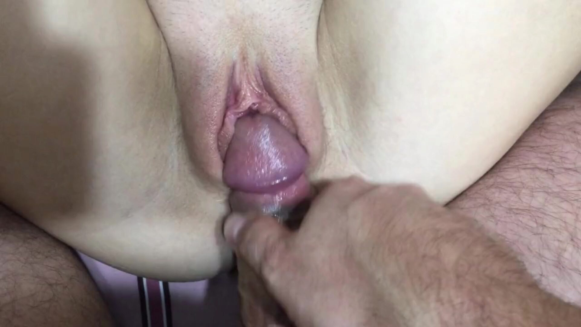 Very Close up Pussy Tease, Slow Fuck and Cum on Pink Pussy Lips, so Cute