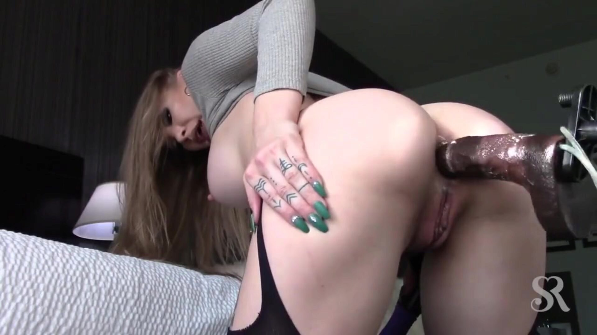 Hard Ass Fuck with Sex Machine Big Anal Gape
