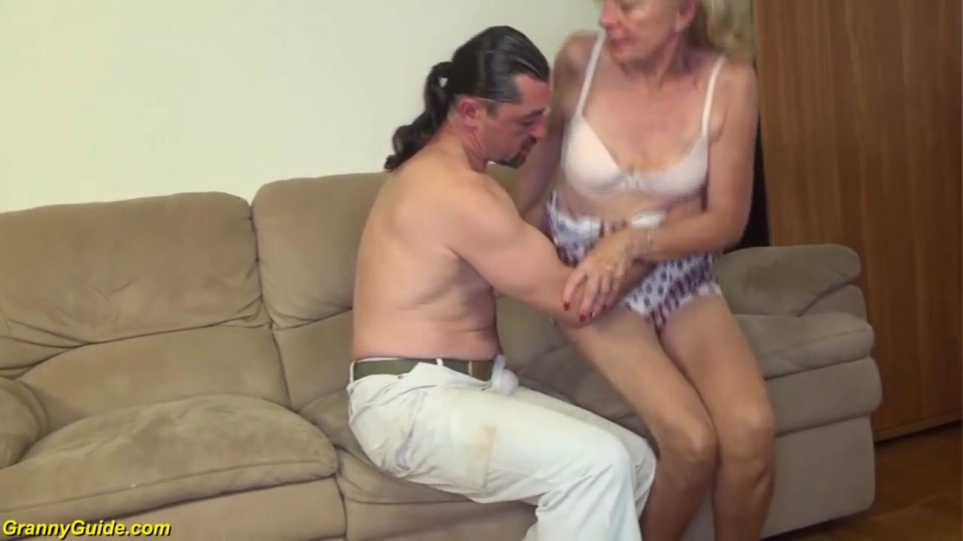 81 years elderly mamma gangbanged by sonny bizarre excited 81 years aged slim grannie with saggy wobblers gets rough large schlong fucked by her son-in-law