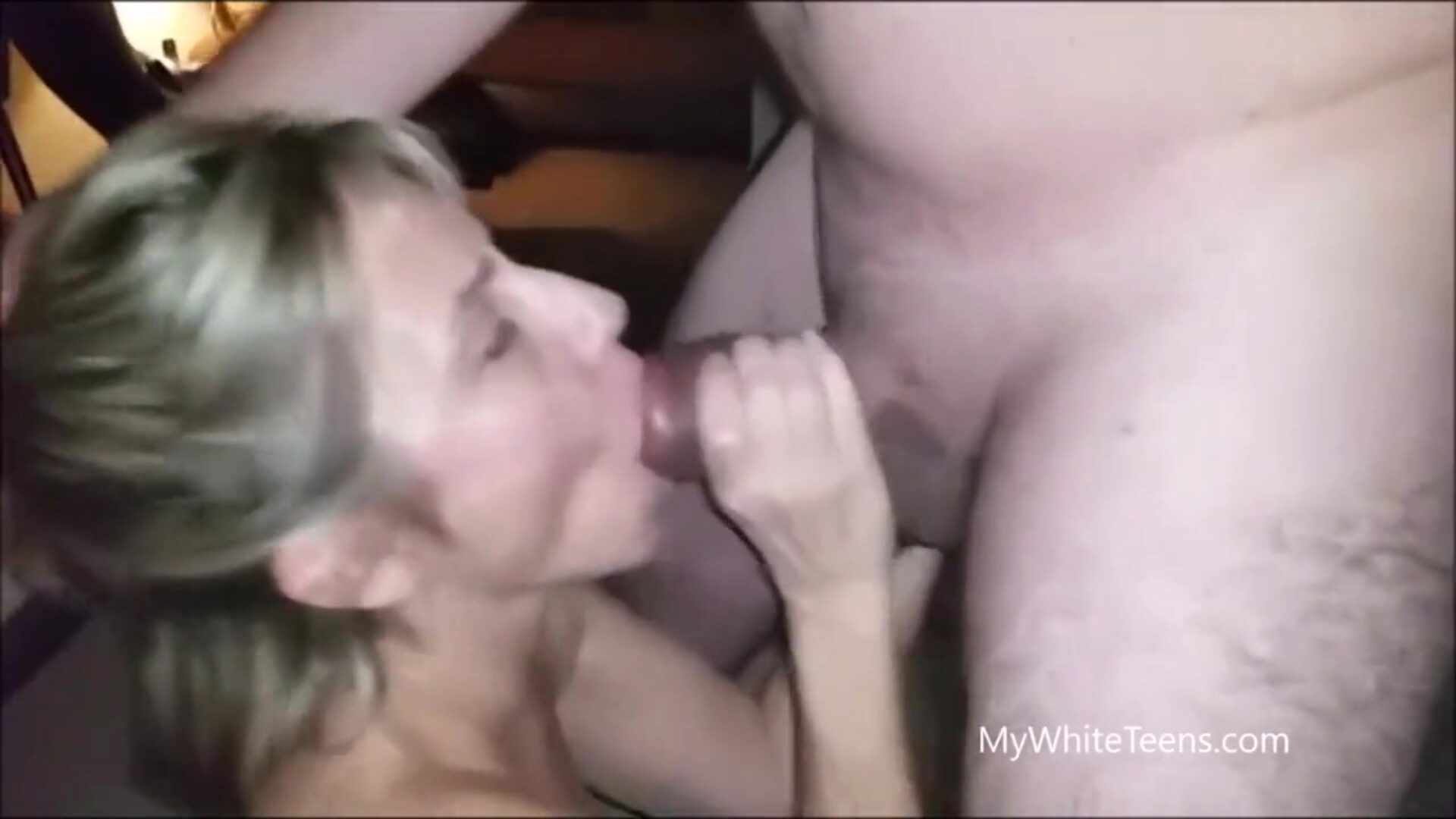37yr senior MILF swallowing in front of spouse Pervert spouse letting his golden-haired mother I'd like to fuck swallow some guys blast