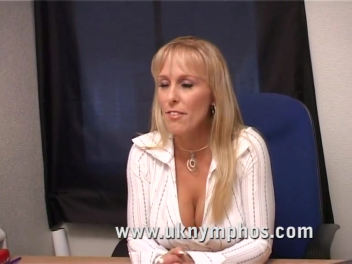 English mother I'd like to fuck in the office Gorgeous MILF chantelle lures the guy in the office previous to sucking and fucking him, taking his cum in her face hole
