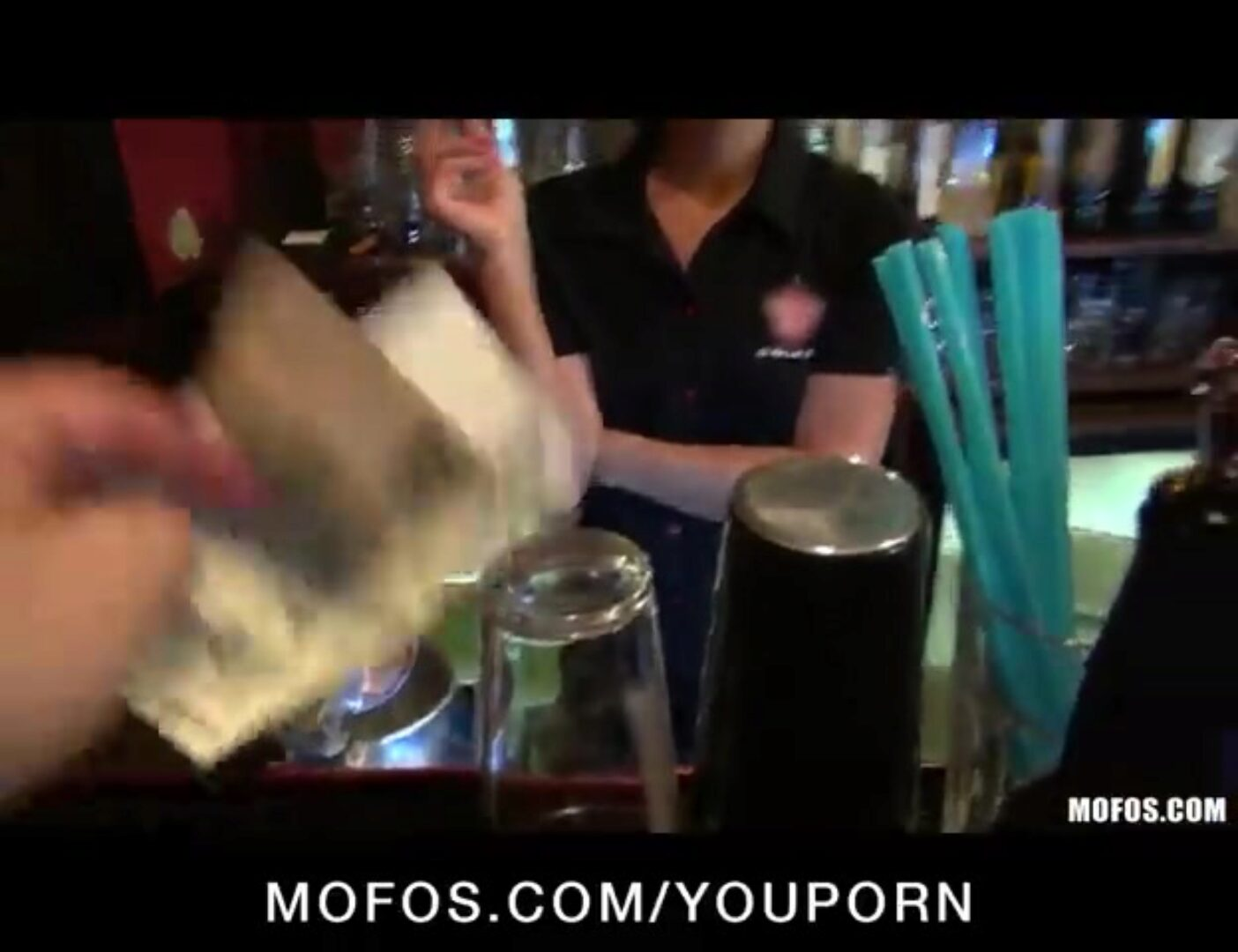 Gorgeous golden-haired bartender is chatted into having sex at work Gorgeous blond bartender is spoke into having fuck-a-thon at work