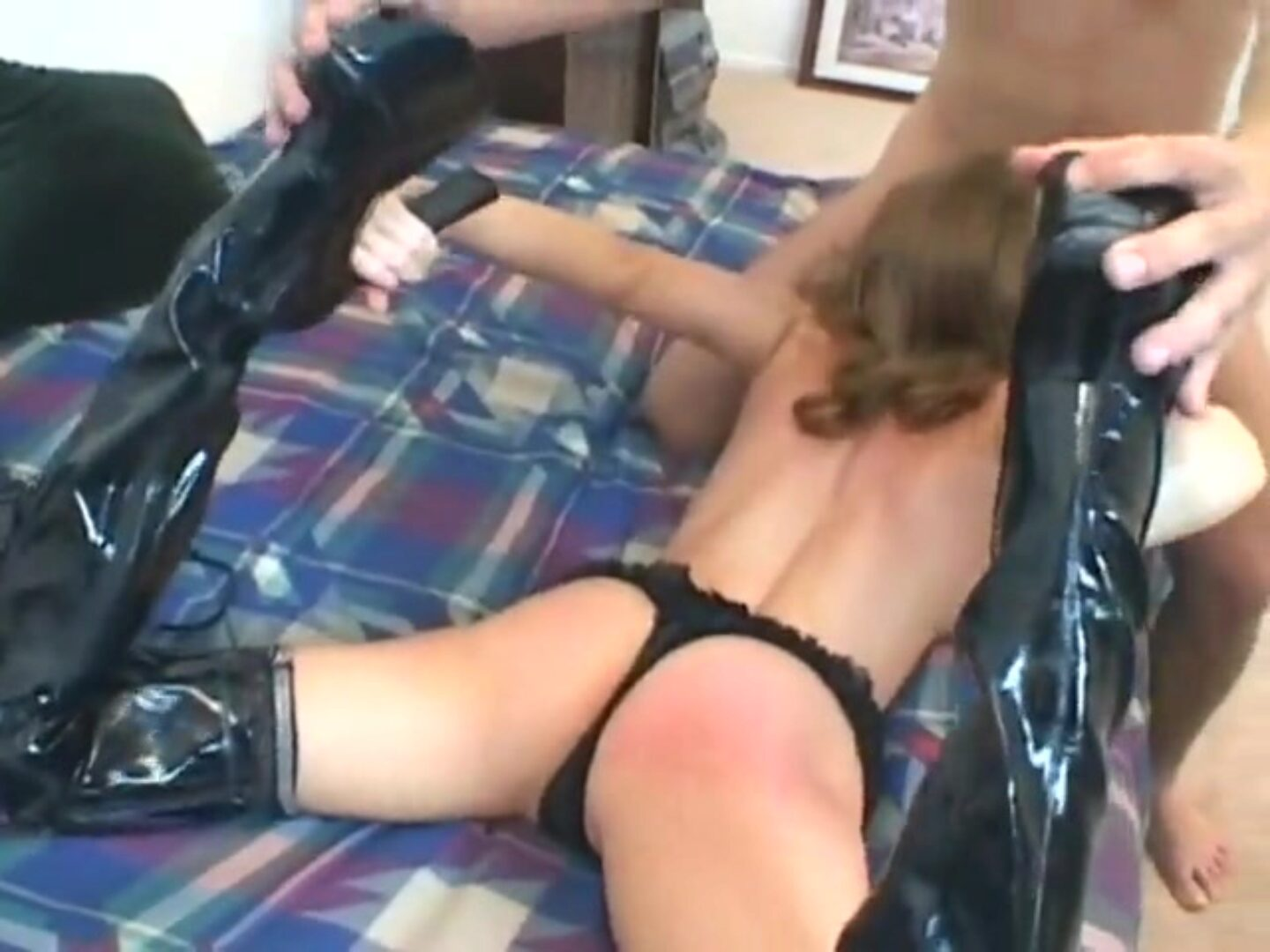 Anal in shoes Hot playgirl has assfucking in shoes and nylons