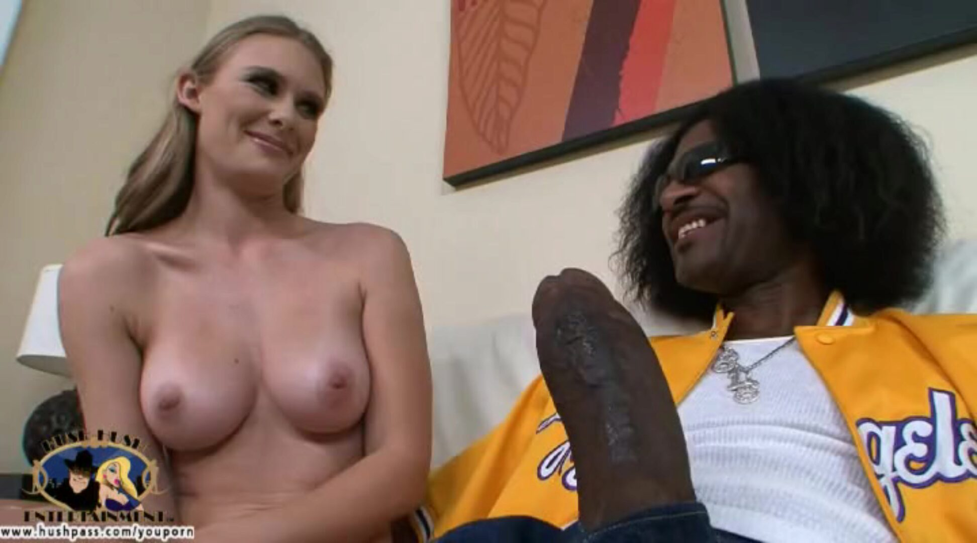 Busty Sunset Diamond acquires a internal cumshot suprise! Blonde teen Sunset is ready to give large ebony weenie a attempt but has she asked for greater amount than this babe can handle Watch