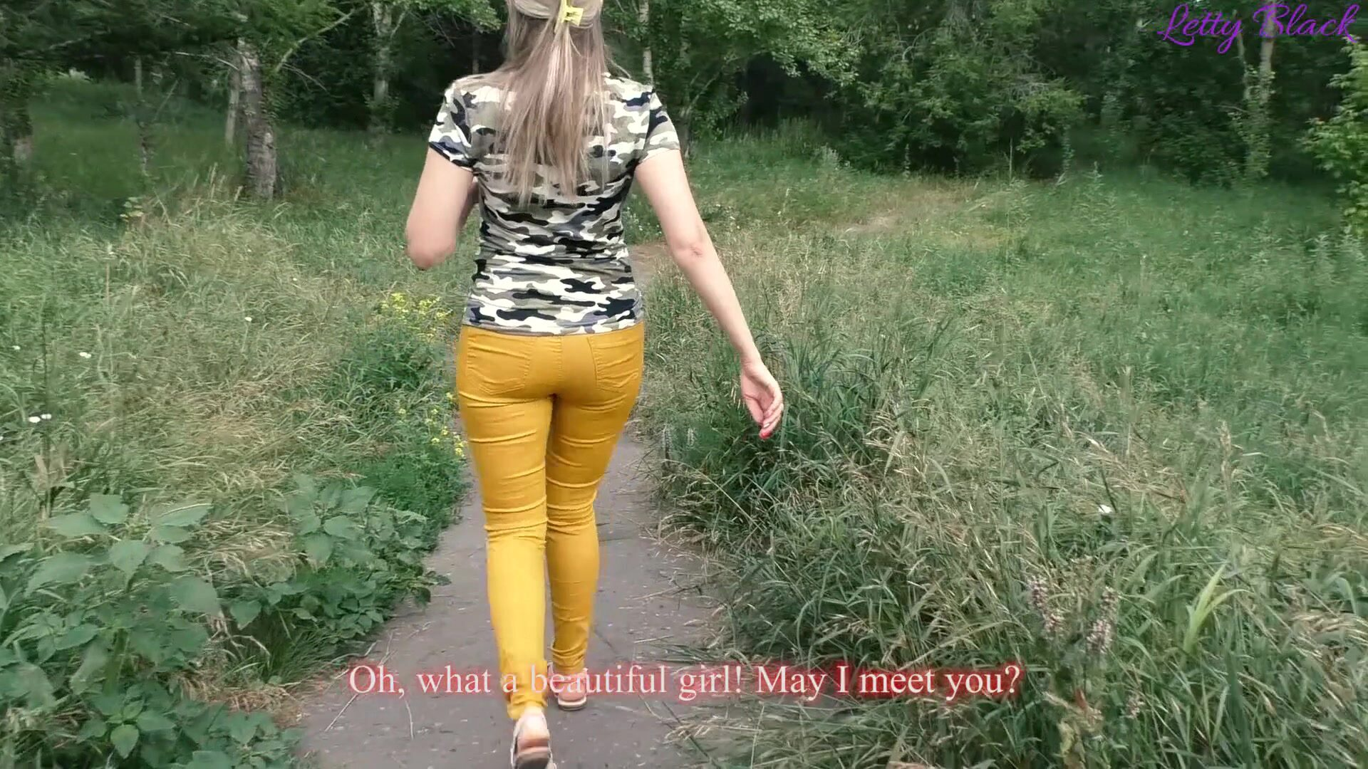 Amateur Wife Outdoors Stranger