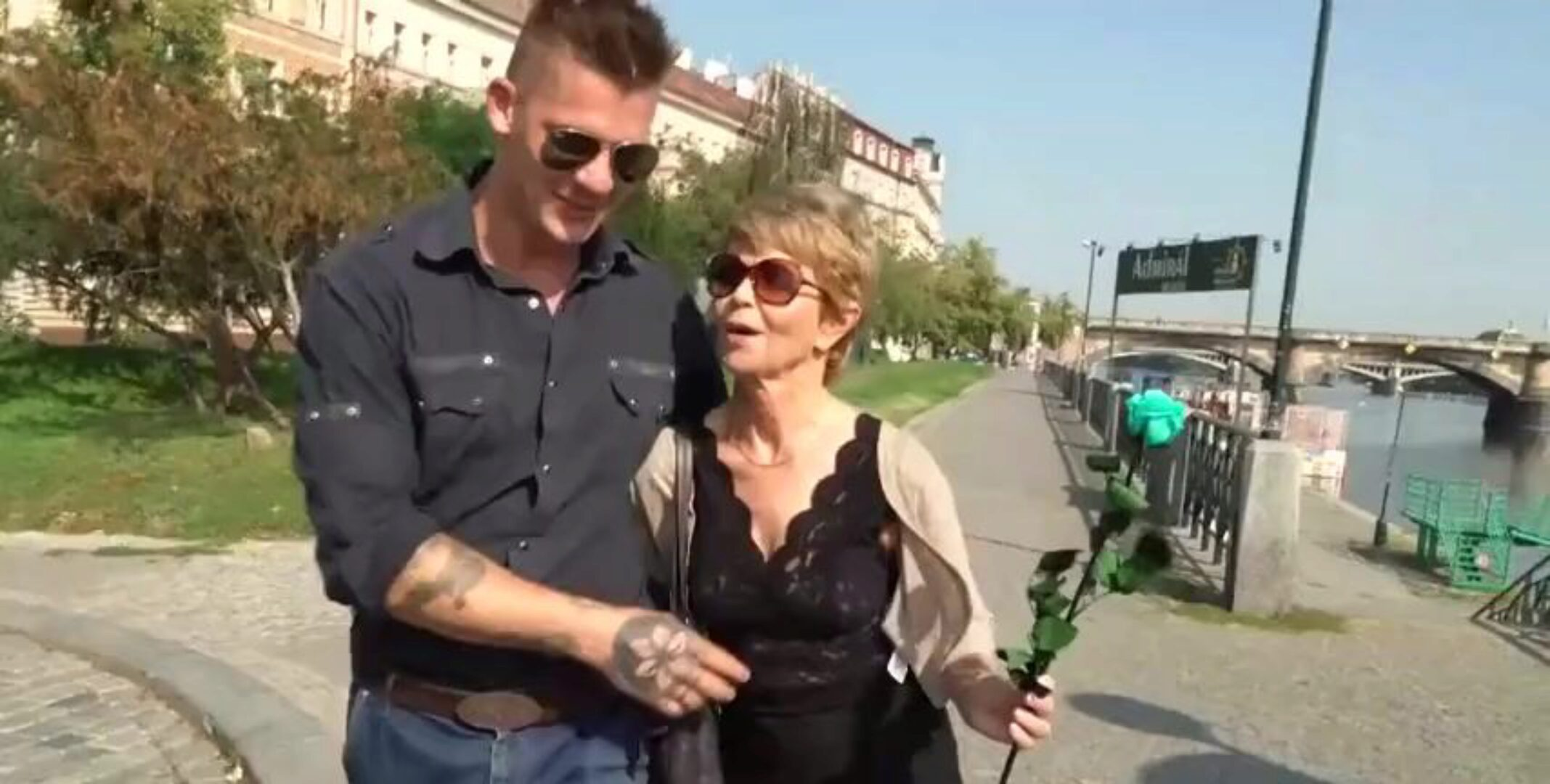 Guy copulates Granny Woman