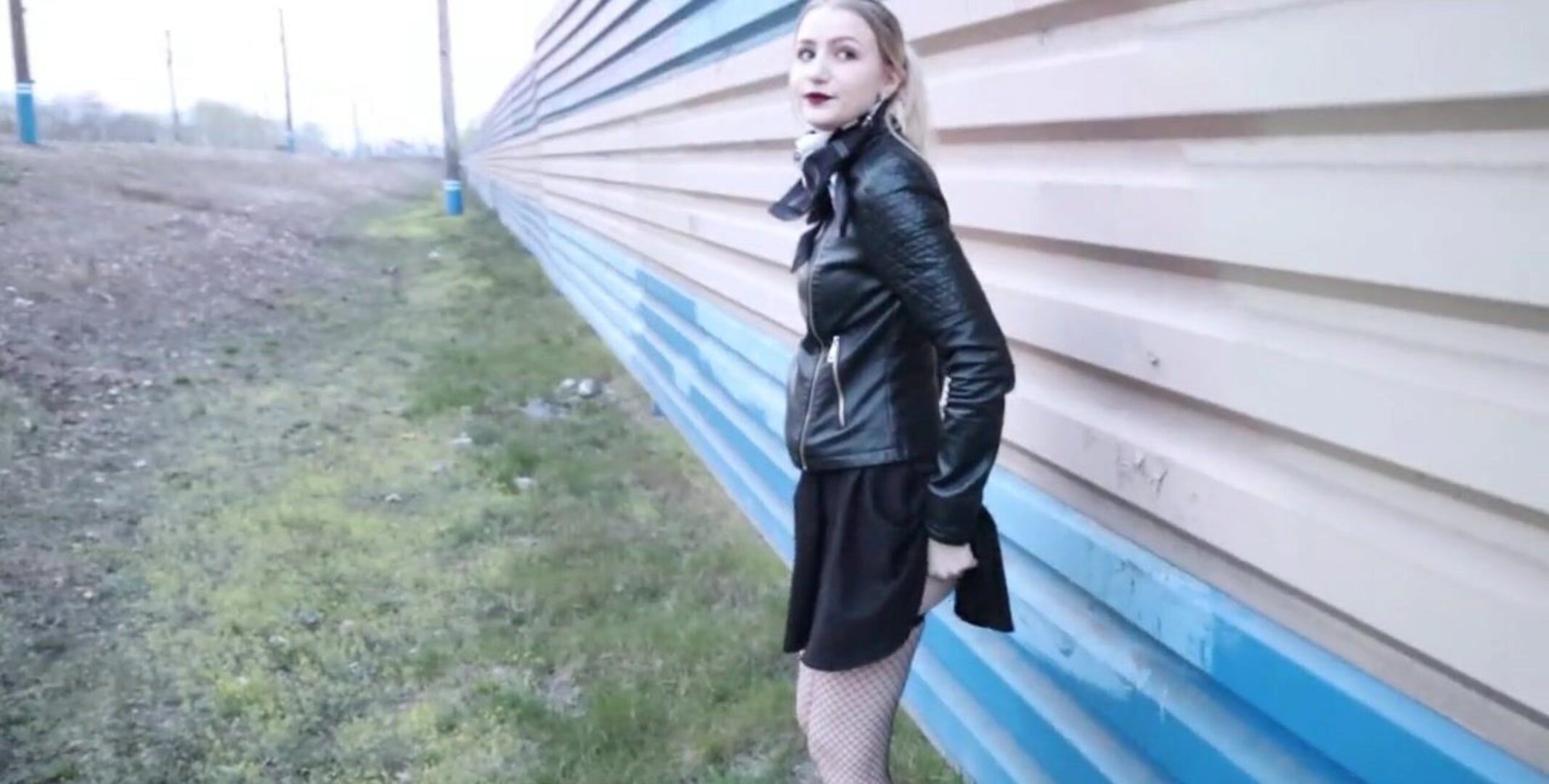 Real Public Sex near the Railroad | CUM IN PANTIES