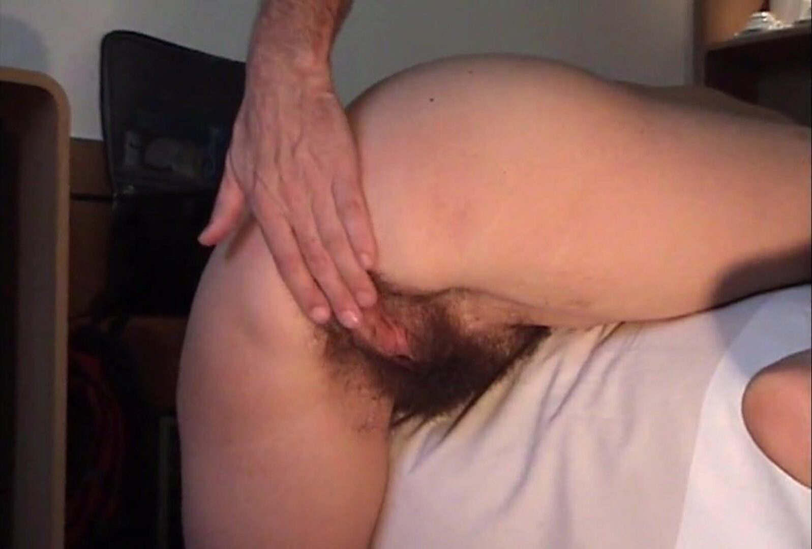 Hairy older Inge V2 - Creampied