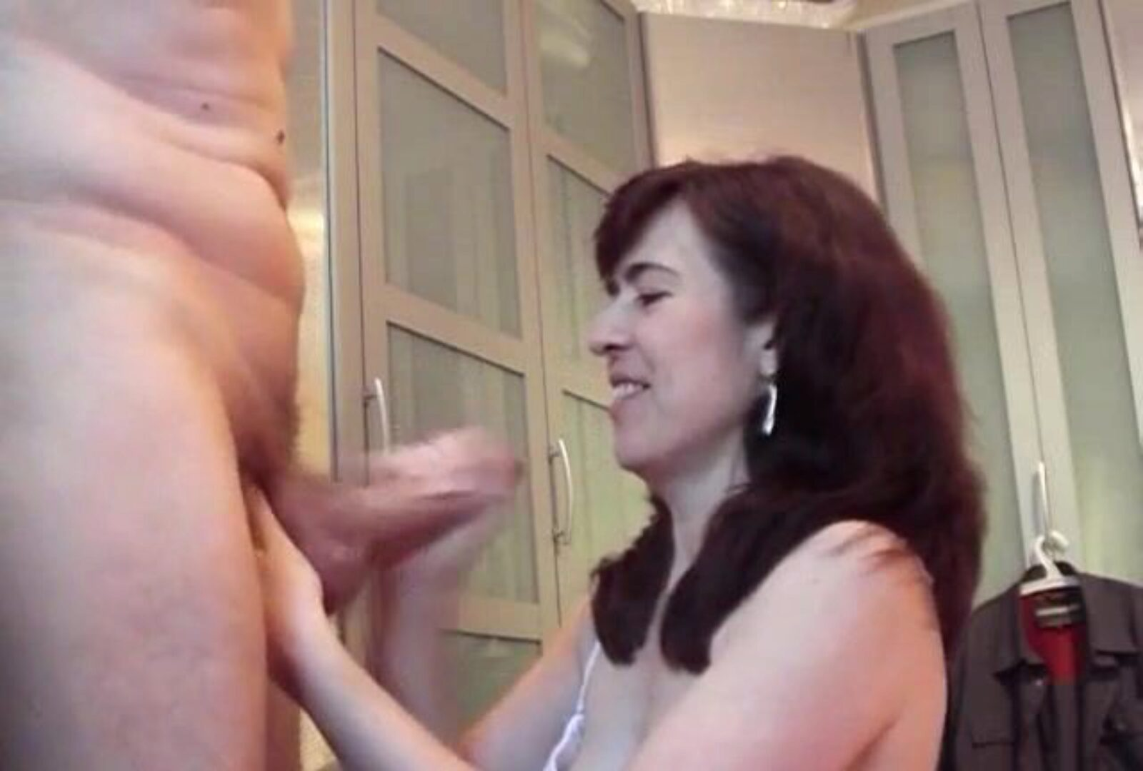 Big schlong shoots a load on aged Jessy's face and face hole Jessy is a german milf with hairy twat and she can't live without  blowjobs with large cocks and large loads in her mouth and face.