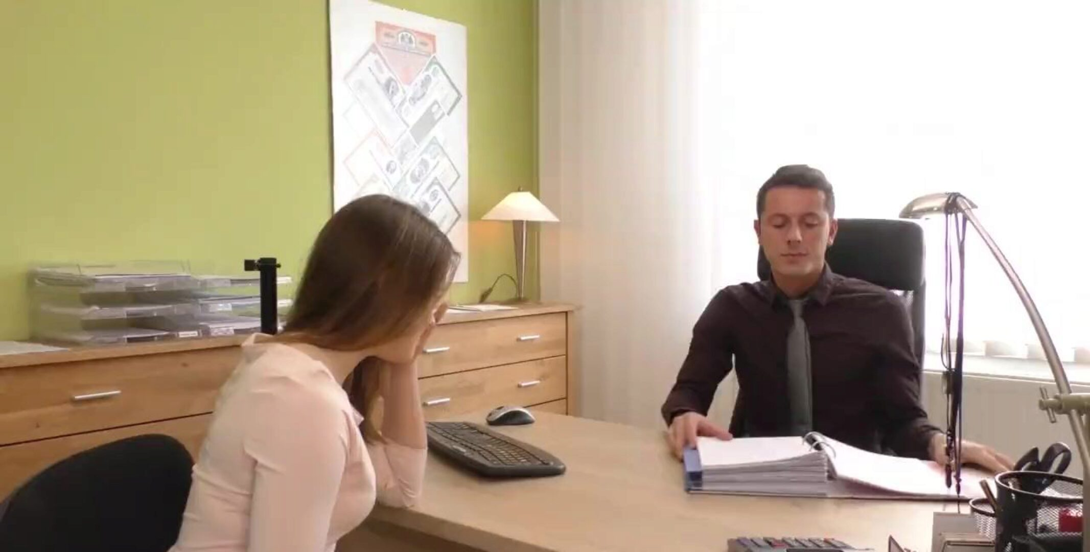 Office babe receives porked in hardcore fashion