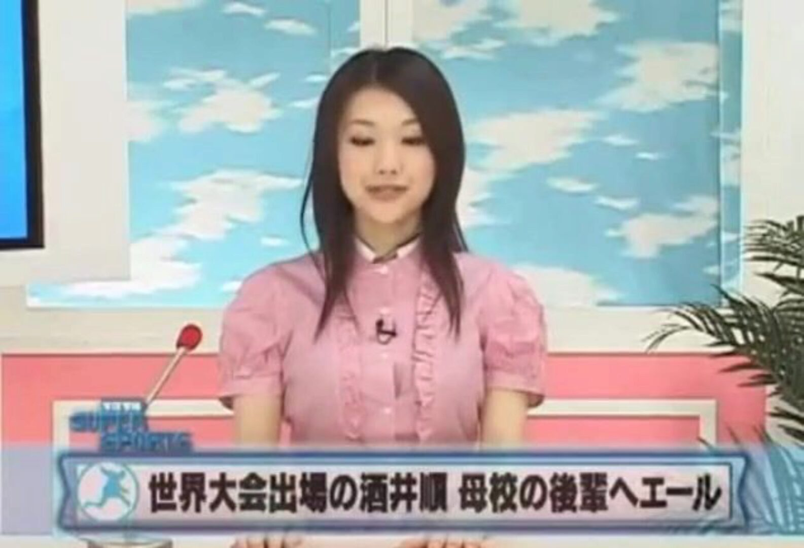 Japanese reporter screwed as she reports the news