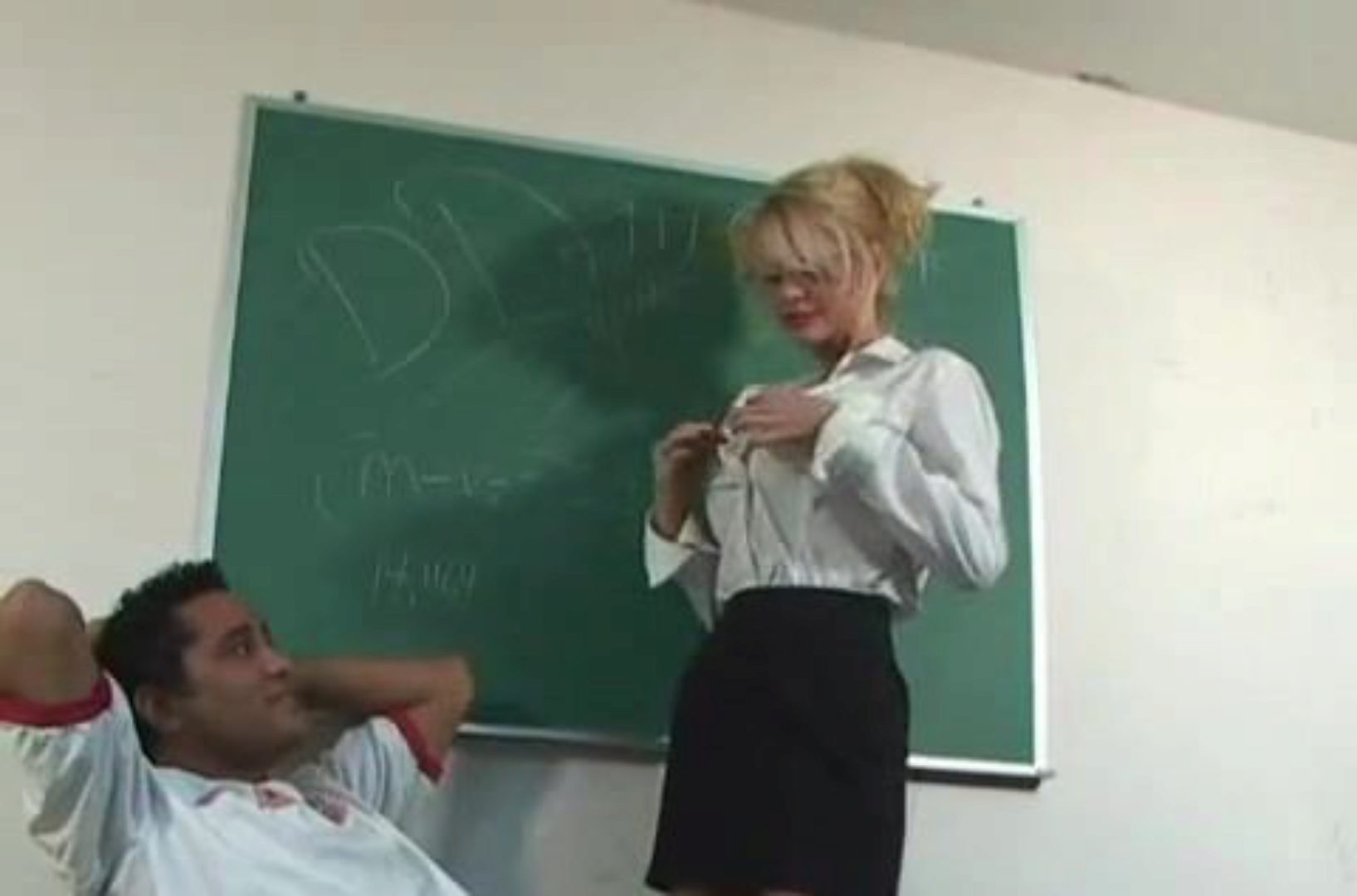 My Teachers Were Never Like This Big jugged tall blond lecturer copulates her schoolgirl